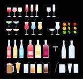 Vidrios, botellas ilustración del vector