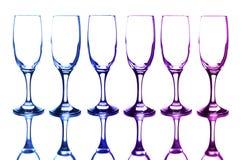 Vidrios coloridos Fotos de archivo