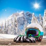Vidrios coloridos del esquí Foto de archivo