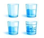 Vidrios con agua ilustración del vector