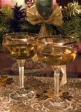 Vidrios con champán Foto de archivo libre de regalías