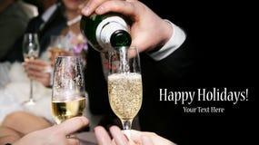 Vidrios con champán Imágenes de archivo libres de regalías