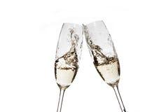 Vidrios con champán Fotografía de archivo libre de regalías