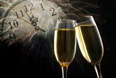 Vidrios con champán Fotos de archivo libres de regalías