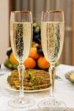 Vidrios con champán Imagen de archivo
