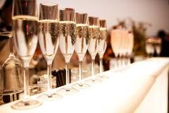 Vidrios con champán Foto de archivo