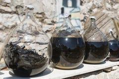 Vidrios con el licor Foto de archivo