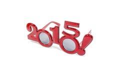 Vidrios con el número 2015 por el Año Nuevo Fotos de archivo
