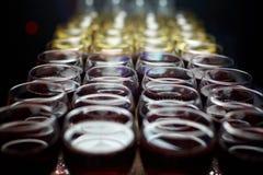 Vidrios con el vino Foto de archivo libre de regalías