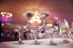 Vidrios con el vino Fotografía de archivo