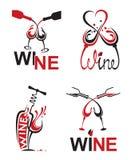 Vidrios con el vino Fotos de archivo libres de regalías