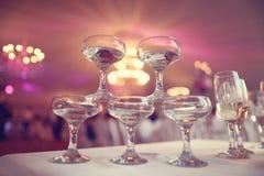 Vidrios con el vino blanco Imagen de archivo