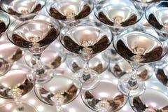 Vidrios con el vino espumoso Imagen de archivo libre de regalías