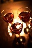vidrios con el vino rojo Imágenes de archivo libres de regalías