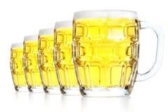 Vidrios con la cerveza Imagen de archivo libre de regalías