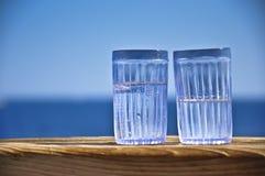 Vidrios con las bebidas Foto de archivo libre de regalías