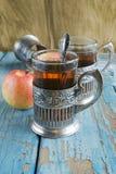 Vidrios con té negro Fotografía de archivo libre de regalías