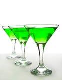 Vidrios con un martini Imágenes de archivo libres de regalías