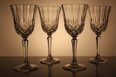 Vidrios cristalinos Imágenes de archivo libres de regalías