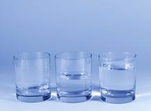 Vidrios de agua Foto de archivo libre de regalías