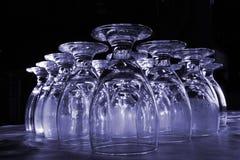 Vidrios de agua de Colorized Imagen de archivo libre de regalías