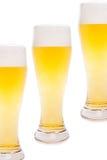 Vidrios de cerveza Foto de archivo