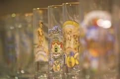 Vidrios de cerveza Imagen de archivo libre de regalías