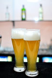 Vidrios de cerveza Fotografía de archivo libre de regalías