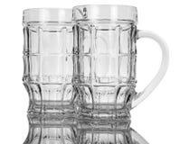 Vidrios de cerveza vacíos Fotografía de archivo