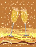 Vidrios de champán Imagen de archivo libre de regalías