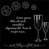 Vidrios de champán Imágenes de archivo libres de regalías