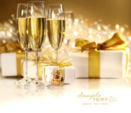 Vidrios de champán Foto de archivo