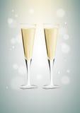 Vidrios de champán Imagen de archivo