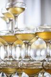 Vidrios de champán Fotos de archivo libres de regalías