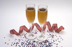 Vidrios de champaigne Foto de archivo