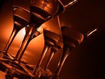 Vidrios de coctel Fotografía de archivo libre de regalías