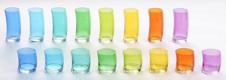 Vidrios de Colorfull Imágenes de archivo libres de regalías