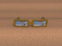 vidrios de 3D Sun Imagen de archivo