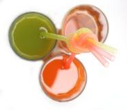 Vidrios de jugos Foto de archivo libre de regalías
