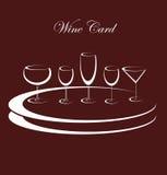Vidrios de la bebida del alcohol del fondo del vino Stock de ilustración