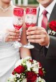 Vidrios de la boda Imágenes de archivo libres de regalías