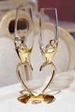 Vidrios de la boda para el champán Imagen de archivo libre de regalías