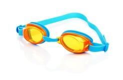 Vidrios de la natación aislados Imágenes de archivo libres de regalías