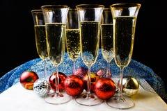 Vidrios de la Navidad, nuevo year& x27; s Imagenes de archivo