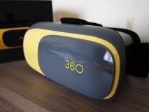 Vidrios de la realidad virtual Detalles y primer interiores imágenes de archivo libres de regalías
