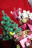 Vidrios de las decoraciones del árbol del Año Nuevo Fotografía de archivo