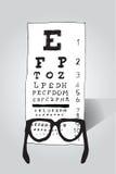 Vidrios de lectura que miran la prueba del ojo Fotografía de archivo