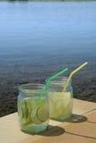 Vidrios de limonada de la cal Fotos de archivo libres de regalías