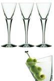 Vidrios de Martini Imágenes de archivo libres de regalías
