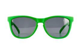 Vidrios de sol verdes aislados Imagen de archivo